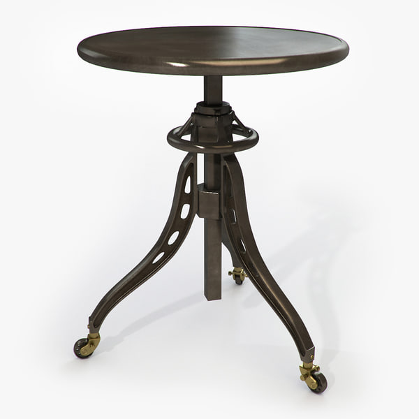 3d model table restoration hardware caliper
