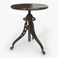 3d model table restoration hardware caliper