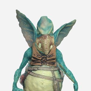 3d watto scanned realistic