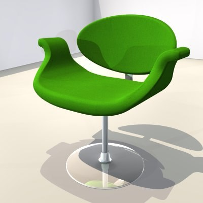 chair green 3ds free
