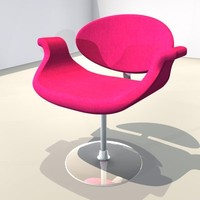 chair pink 3ds free