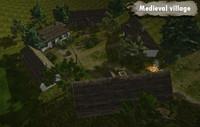 3d fbx medieval village assets houses