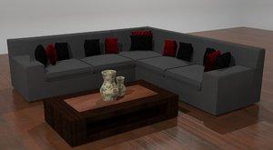 3d model coricraft kirsty lounge suite