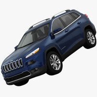 jeep cherokee suv 3ds