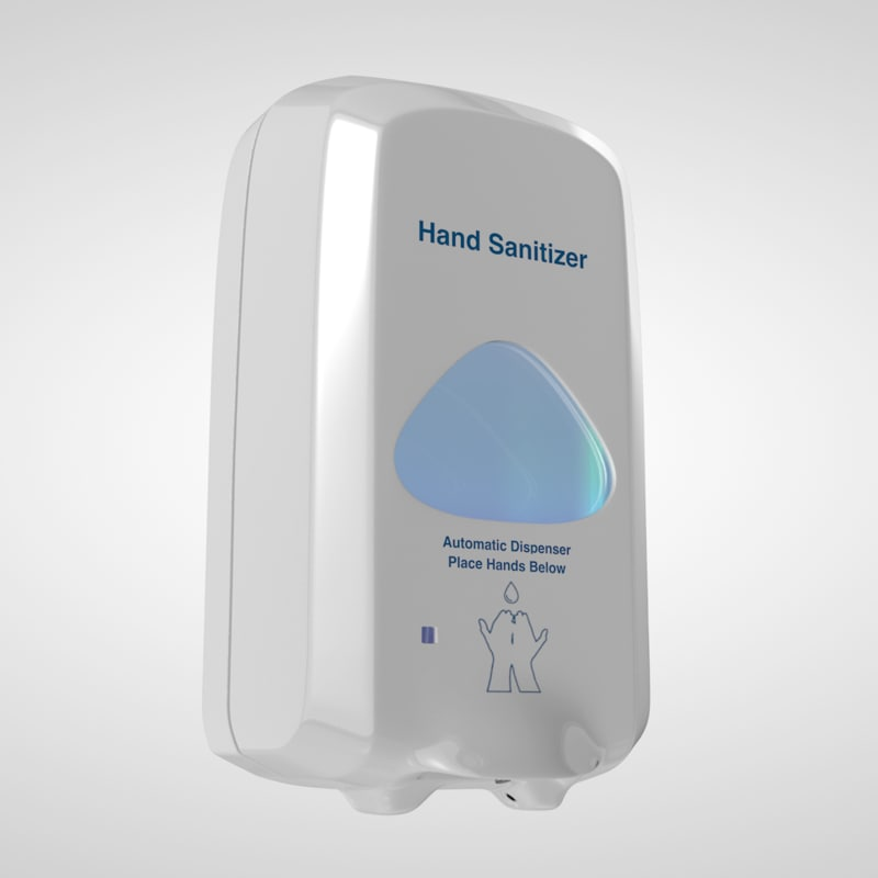 touch-free hand sanitizer wall 3d c4d