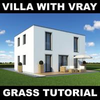 family grass garden 3d model