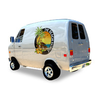 3d cool cartoon van