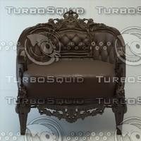 3d model of classic armchair