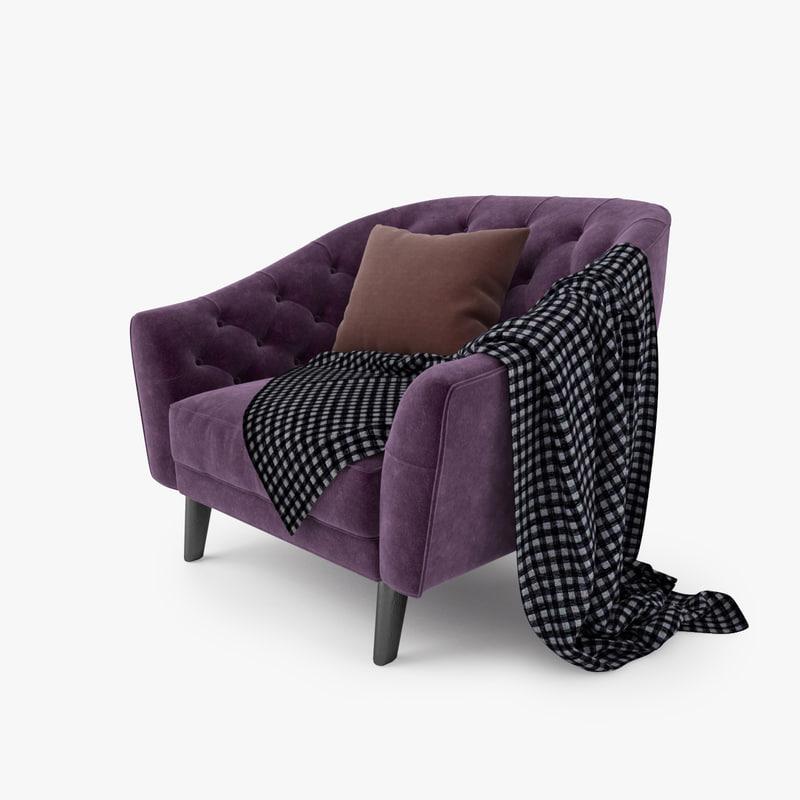 3dsmax busnelli amouage chair