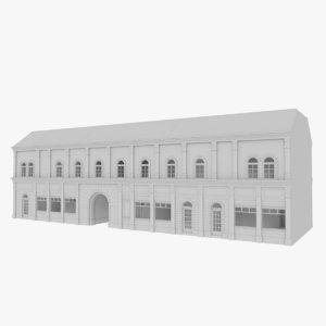 3d european building interior stores