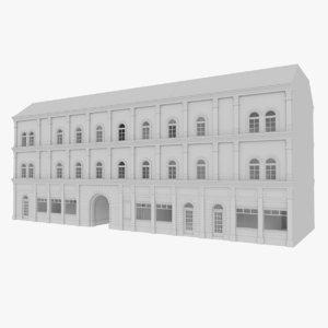 european building interior 3d model