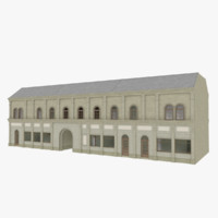 3d model european building interior stores