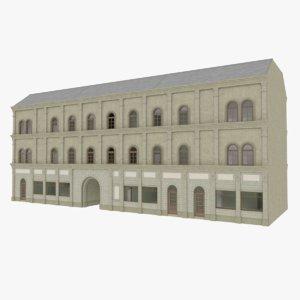 3d model european building interior stores