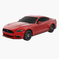 Sports Car Ford Mustang Coupe 2015 Without Interior