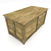 3d model shipping crate