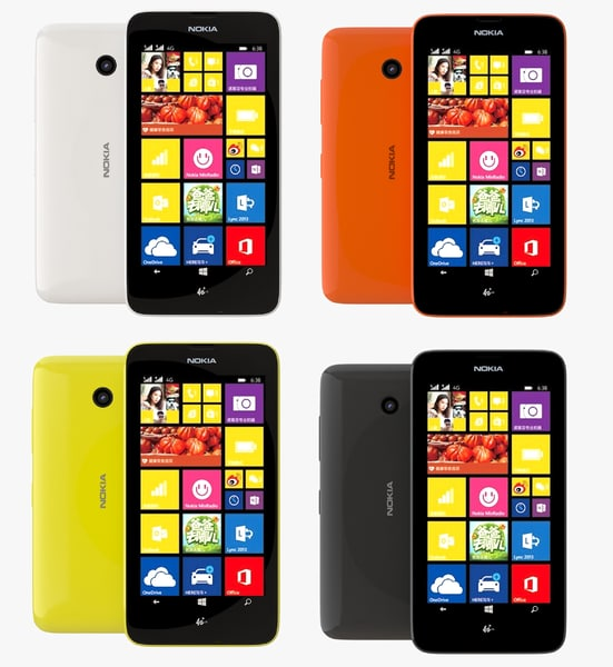 nokia lumia 638 color 3d dxf