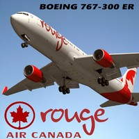 3d model boeing 767-300 air canada