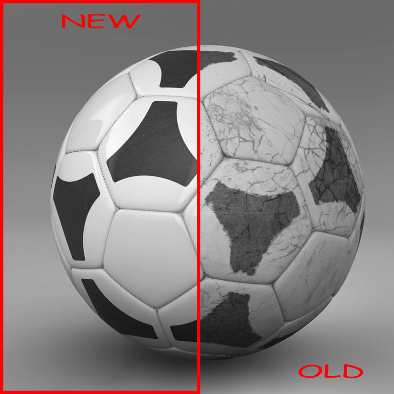 ball soccer black 3d c4d