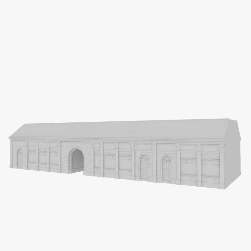 3d european building model