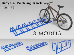 3ds max bicycle parking rack -