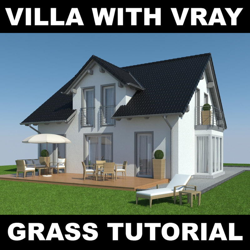 house grass realistic 3d max