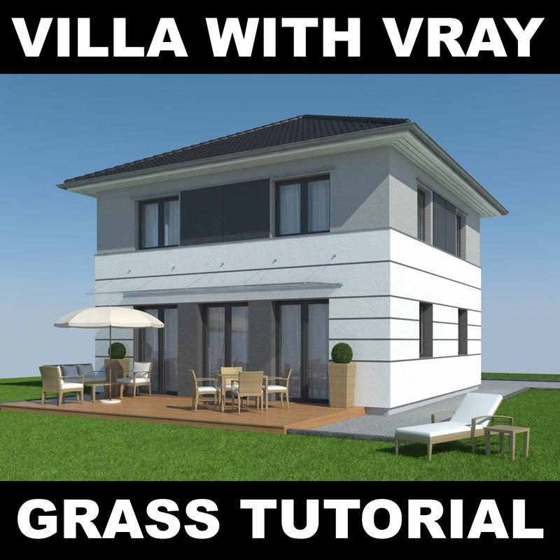 house grass realistic 5 3d max