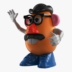 3d mr potato head model