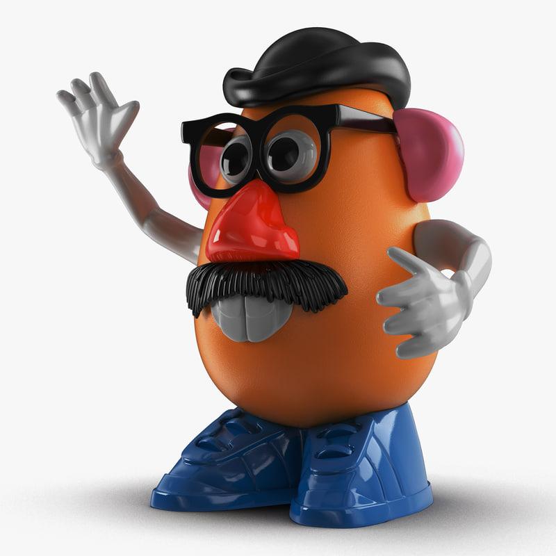 3d mr potato head model