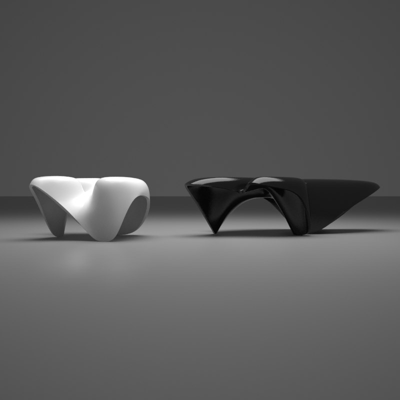 zaha hadid mercuric tables 3ds