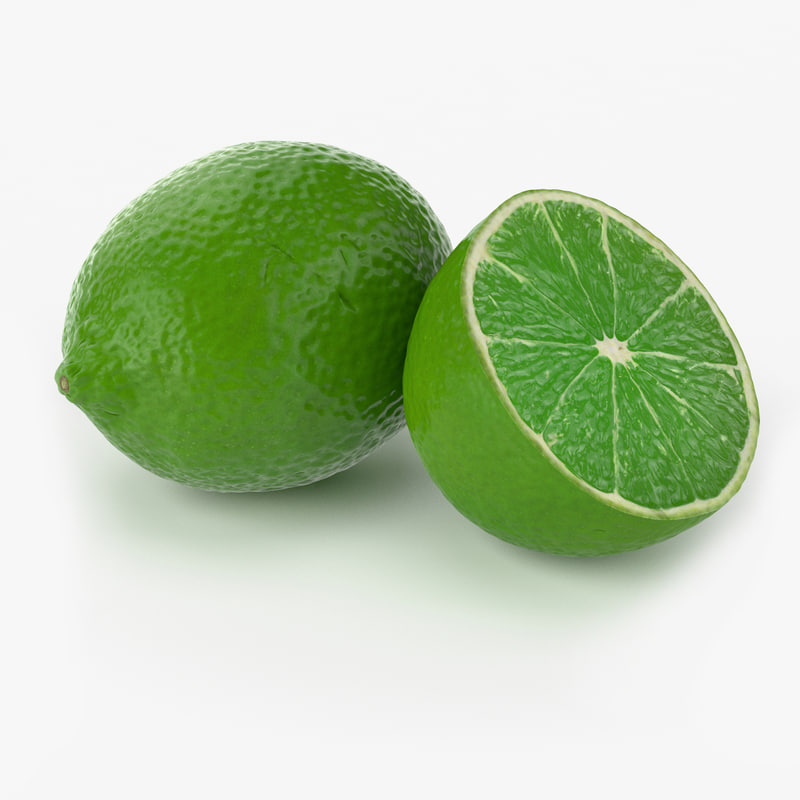 realistic lime fruit real 3d model