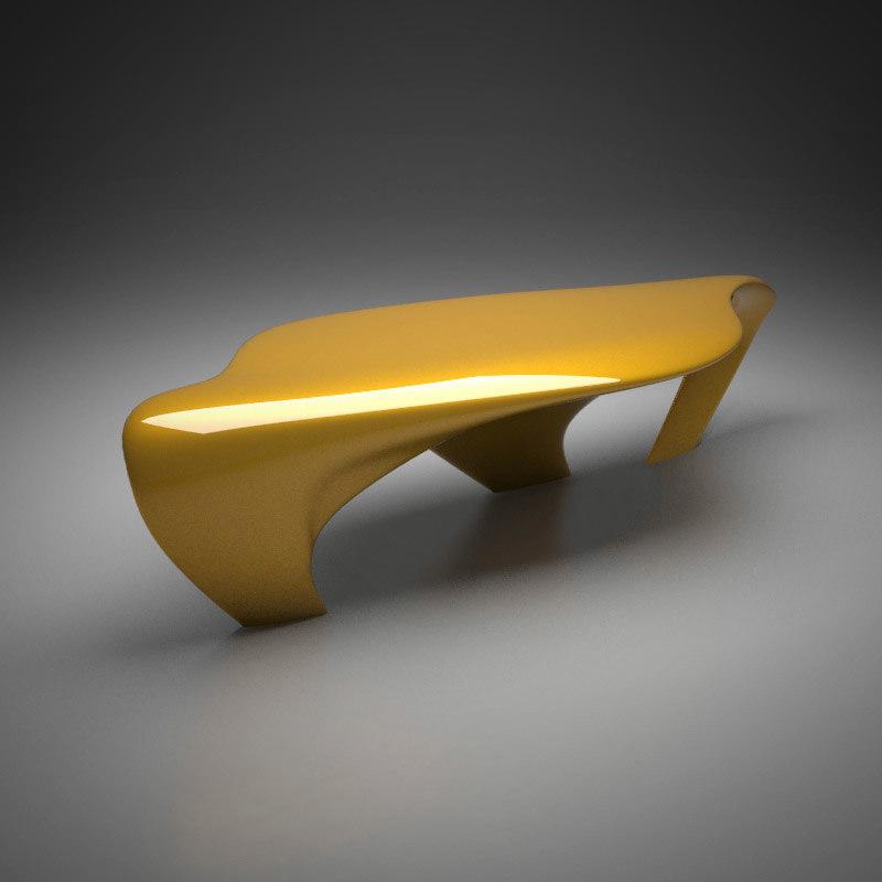 3d zaha hadid dune table model