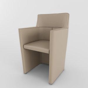 3d model armchair molteni lyz 01