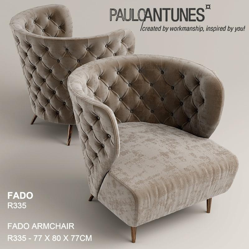 3d model fado chair