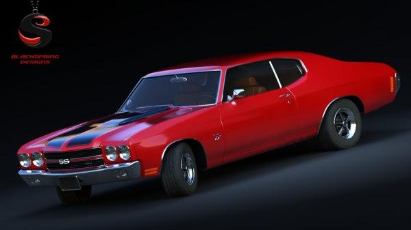 Chevrolet Chevelle Ss Ls6 454 1970 3d Modell Turbosquid 884717