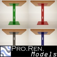 3d model bar tables