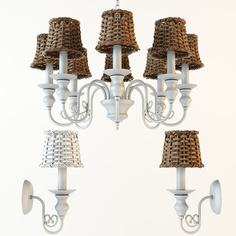 3d model arte lamp villaggio