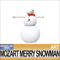 Mozart Merry Snowman