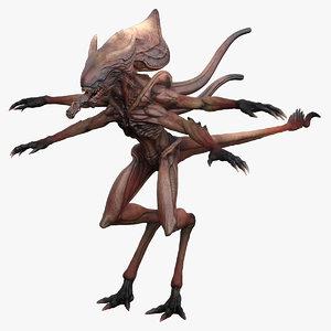 3d model alien modeled