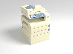 photocopier polys 3d model