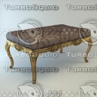 classical banquette 3d max