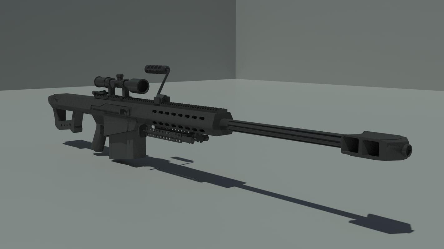 3d m 95 barrett sniper