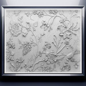 3d bas-relief relief
