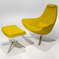Metropolitan Chair & Ottoman