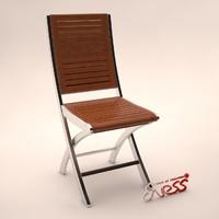 3d model chair bali