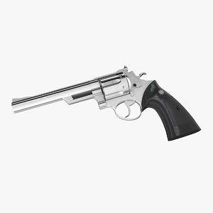 kokusai 44 magnum revolver 3d obj