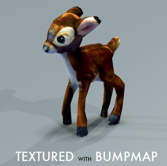 3d deer normalmap