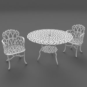 3d model forged furniture