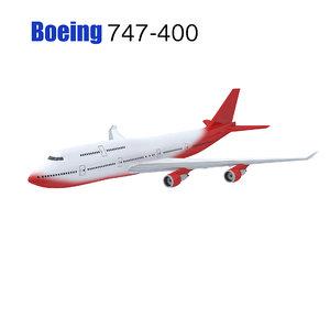 3d commercial plane