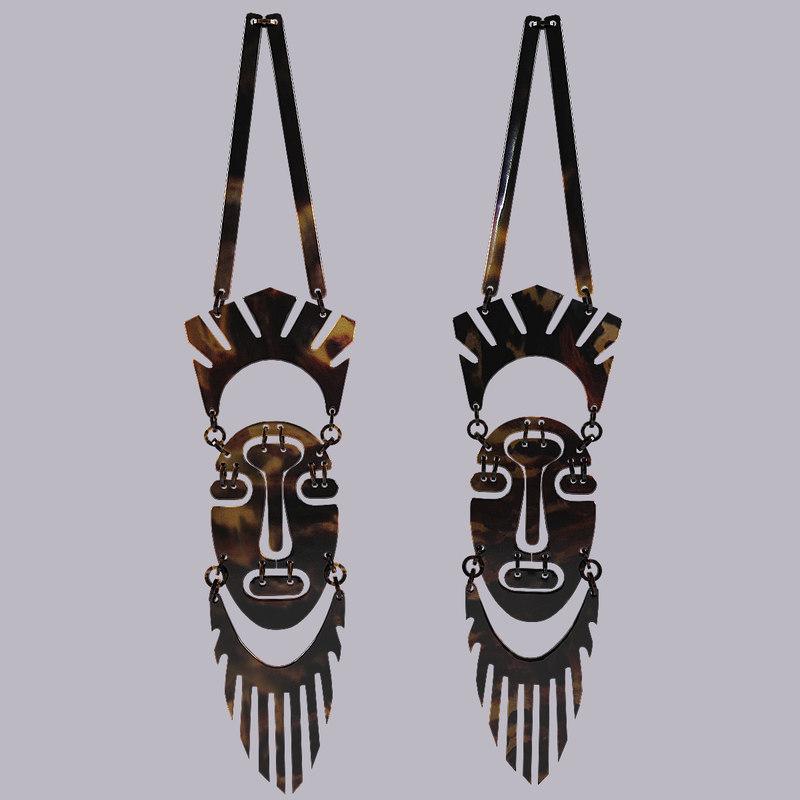 3d model african masks