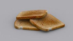 bread slice 3d model